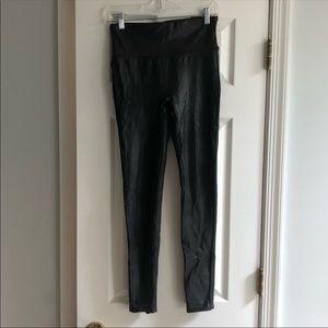 Spanx faux leather leggings medium